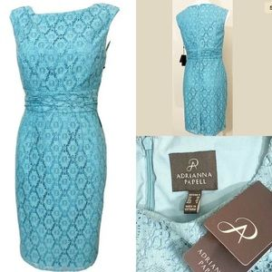 Adrianna Papell Formal Lace turquoise Dress